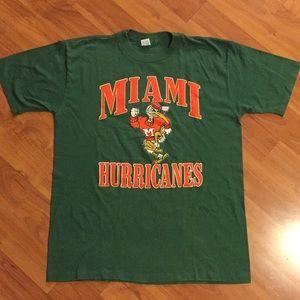 Miami Hurricanes Vintage Graphic Tee Size Large